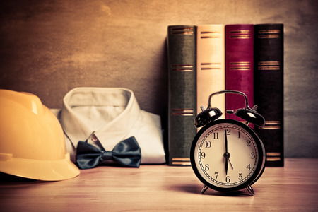 o'clock: six oclock morning time for wake up to work , bussiness concept