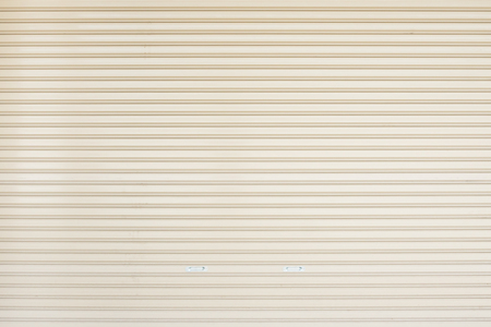 wheather: old steel rolling shutter background Stock Photo
