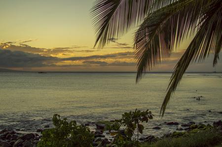 best travel destinations: Spectacular Maui sunset over the ocean.