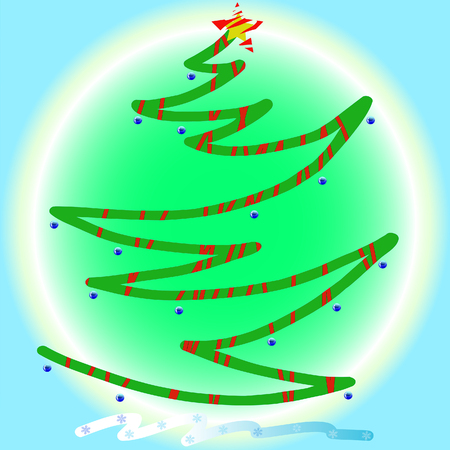 newyear: Vector image of a abstract Christmas Tree Illustration