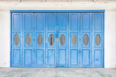 blue door: Old House with blue door