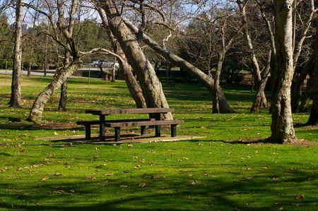 bench park: Parque banco 2  Foto de archivo