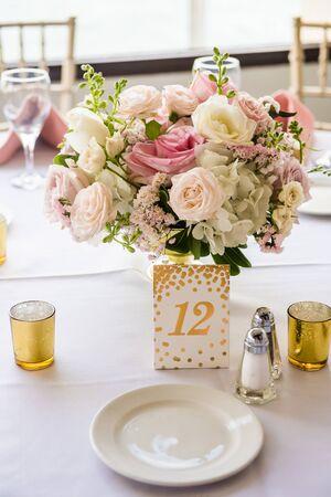 Wedding decor at reception site