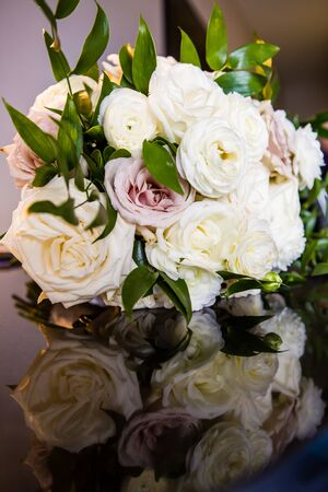 Wedding Flowers at reception site 스톡 콘텐츠