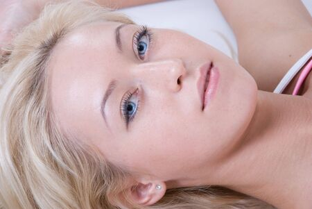 Close up portrait of  slavonic woman relaxing Stock Photo - 5526252