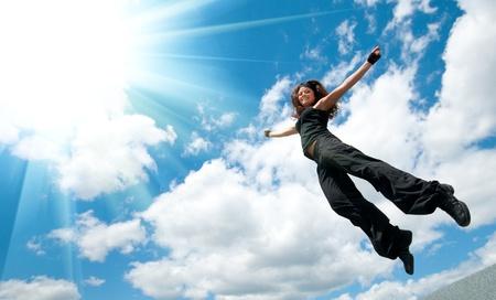 Jump over sky photo