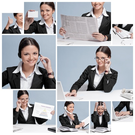Business woman collage Stock Photo - 10524281