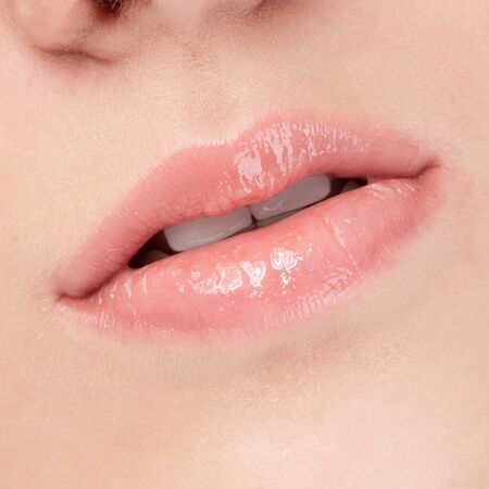 Close-up face of beauty young woman - lips make-up zone Stock Photo - 12872162