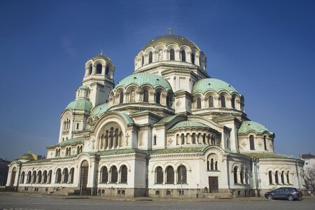 Alexander Nevski Cathedral which is  situated in Sofia, Bulgaria, with its golden domes