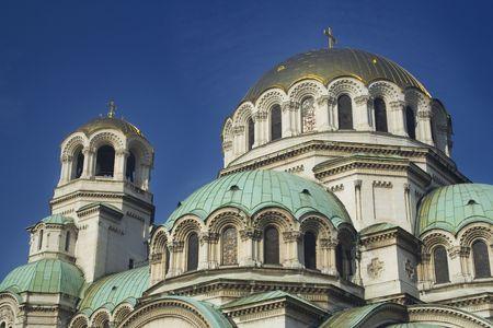 Cattedrale di Alexander Nevski, che si trova a Sofia, in Bulgaria, con le sue cupole d'oro