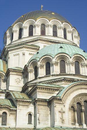 Cattedrale di Alexander Nevski, che si trova a Sofia, in Bulgaria Archivio Fotografico