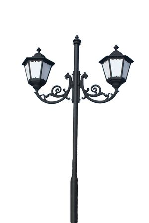 Ancient street lamp - isolated