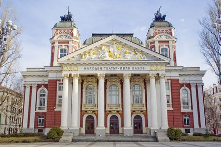 The National Bulgarian Theatre Ivan Vazov, cituated in the very center of Sofia is one of the symbols of Bulgaria. Wanna know more - visit http:en.wikipedia.orgwikiIvan_Vazov_National_Theatre