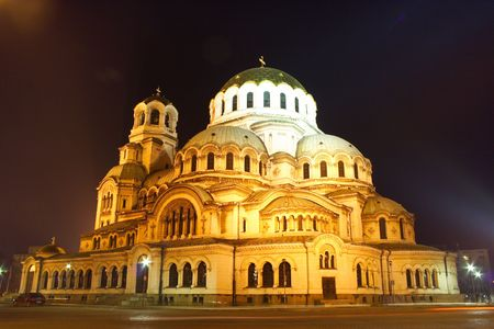 Aleksander Nevsky Cathedral in Sofia, Bulgaria, is one of the symbols of this charming country. Wanna now more about it? Visit http:en.wikipedia.orgwikiAlexander_Nevsky_Cathedral%2C_Sofia Stock Photo