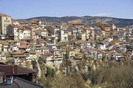 The town of Veliko Tarnovo with Yantra river, Bulgaria