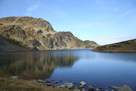 Rila Montagna con il lago di Rene