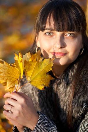 Fashion Model Posing: Autumn Beauty