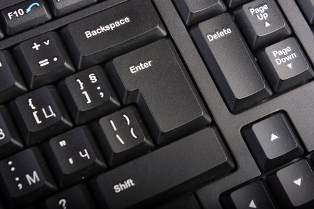 Keyboard with selective focus on the enter button Stock Photo - 8484585