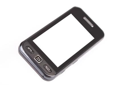 Touch screen telefono isolata on white Archivio Fotografico