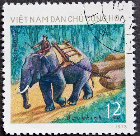 Francobollo della posta dal Vietnam 1973 Archivio Fotografico