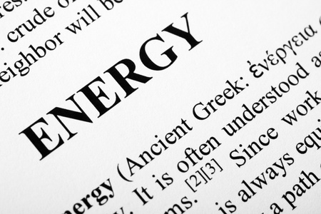 The word energy shot with artistic selective focus. Stock Photo - 11396757