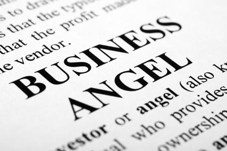 Il business parole angelo girato con messa a fuoco selettiva artistico.