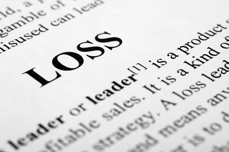 The word loss shot with artistic selective focus. Stock Photo - 11396753