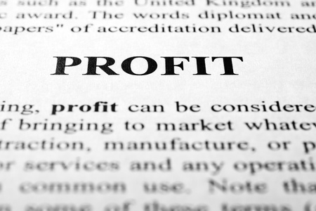 The word profit shot with artistic selective focus. Stock Photo