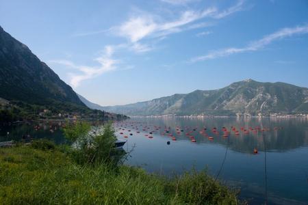 Scenic bay in Montenegro, Europe