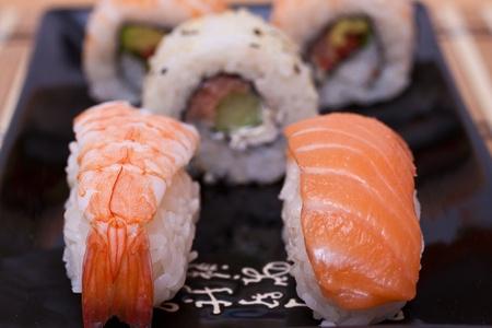 Sushi set. Messa a fuoco selettiva.