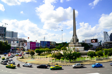 paragon: The VIctory monument One of Land Mark In capital city of Thailand