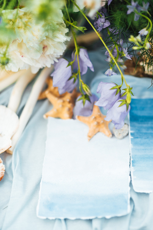 starfish and seashell wedding decor
