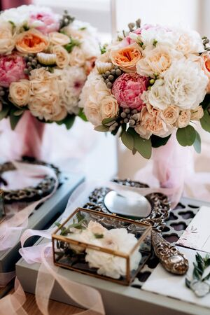 bridal bouquet of fresh flowers