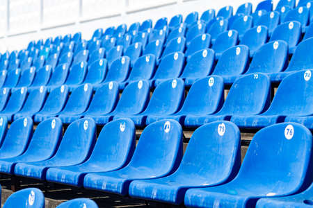 empty stands at the stadium No people Imagens