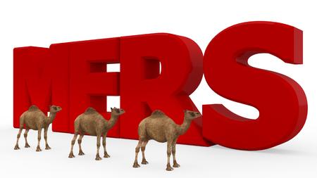 objec: MERS virus 3d render isolated Stock Photo