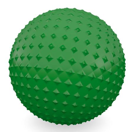 �spiked: Bola de pinchos de procesamiento 3D sobre fondo blanco Foto de archivo