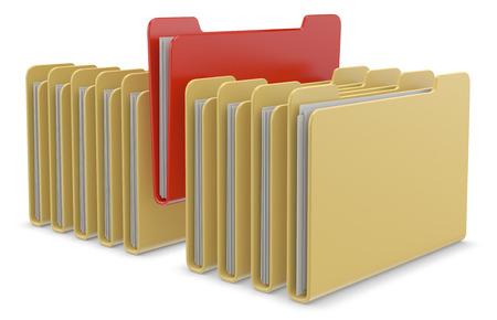 directorio telefonico: Iconos de la carpeta 3d aislado en el fondo blanco Foto de archivo