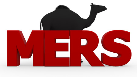 quarantine: MERS virus 3d render isolated Stock Photo
