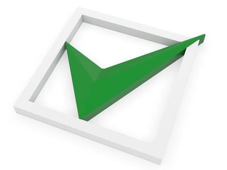 checkbox: Tick In Checkbox on white Stock Photo