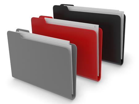 directorio telefonico: Folder icons 3d render on white