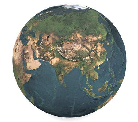 eurasia: Globe of the World. Eurasia 3d Stock Photo