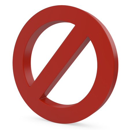 danger warning sign: Stop symbol. 3D Icon isolated on white background