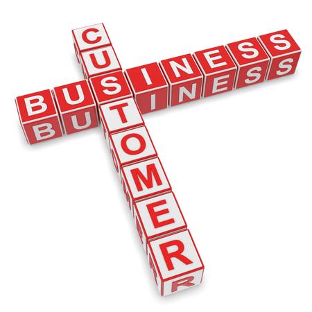 the beginnings: 3D Rendering, business concept. Crosswords - business Stock Photo