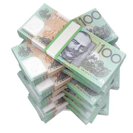 australian dollars: australian dollars. cash 3d render on white
