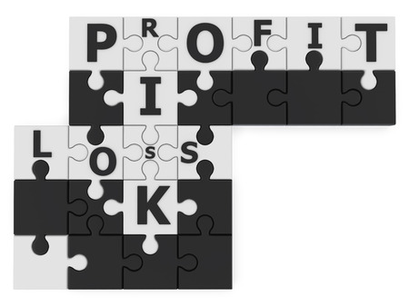 crossword puzzle: risk management 3d concept on white