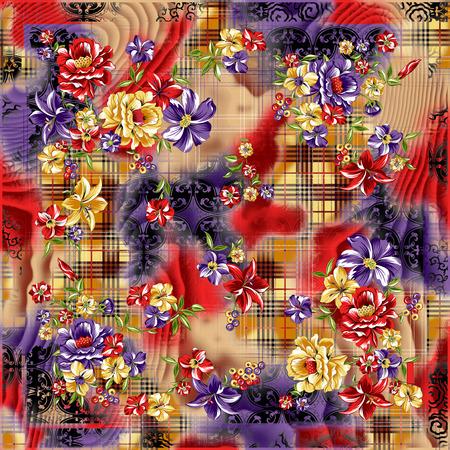 silk scarf: silk scarf design, fashion textile