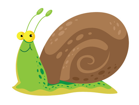 cochlea: illustration of a snail cute Illustration