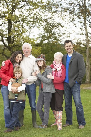 Extended Family Group On Walk Through Countryside Stock Photo - 7172034