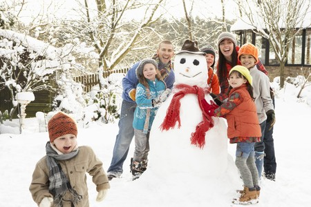 bonhomme de neige: Renforcement de la famille Bonhomme de neige dans le jardin