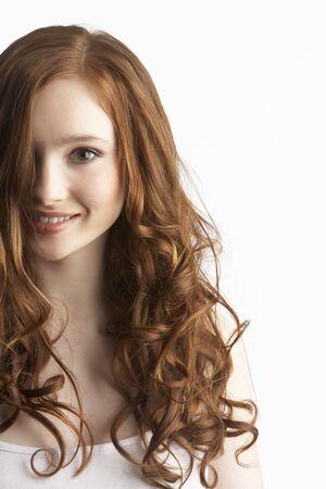 Portrait Of Attractive Teenage Girl In Studio photo